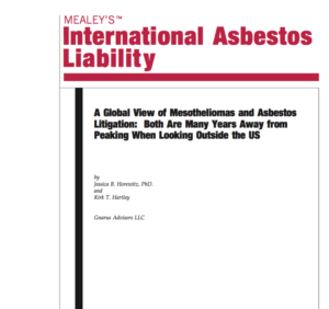 A Global View of Mesotheliomas and Asbestos Litigation: Both Are Many Years Away from Peaking When Looking Outside the US