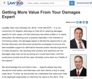Getting More Value from Your Damages Expert